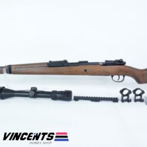 Double Bell Kar98 Wood Ejecting Sniper Rifle with Scope