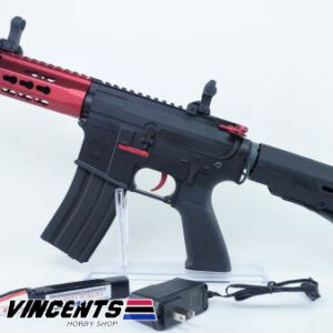 E&C 312 M4 CQB Red AEG Rifle
