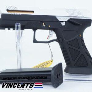 HFC HG 182 Glock AG 17 Black Body with Silver Slide