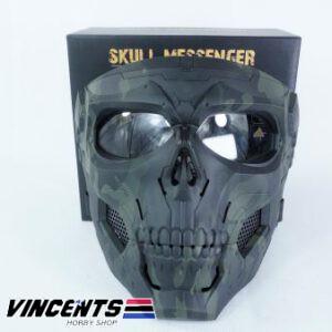 Skull Messenger Mask Black Multicam