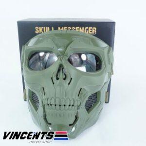 Skull Messenger Mask Green