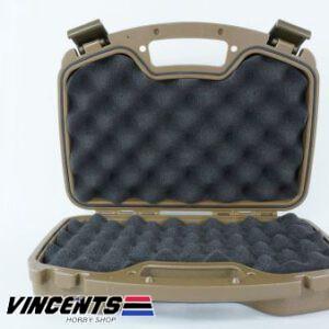 TMV Double Pistol Case Tan