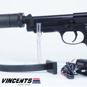 UMAREX Beretta M92 A1 (Electric with Silencer) Black Pistol