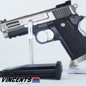 We 3.8 Brontosaurus Silver Slide Pistol