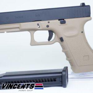 WE Glock 17 Gen 3 Tan Body with Black Slide