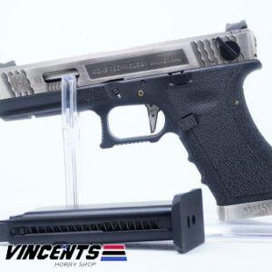 WE Glock 18 TMSS Silver Slide
