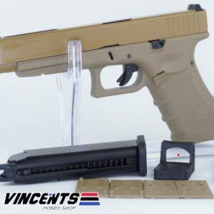 WE Glock 34 Gen4 with MOS Tan