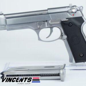 WE M92 Beretta Silver Pistol