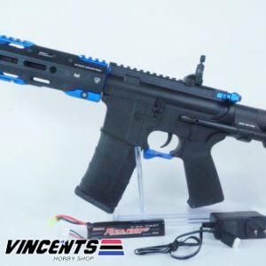 E&C 337 Two Tone Black and Blue AEG Rifle