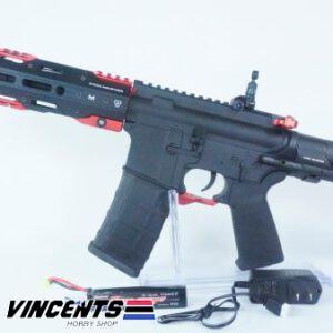 E&C 337 Two Tone Black and Red AEG Rifle