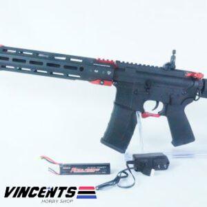 E&C 339 Two Tone Black and Red AEG Rifle