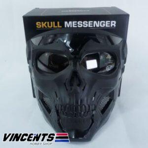 Skull Messenger Mask Black